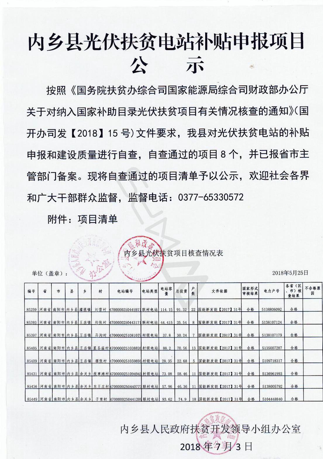 内乡县光伏扶贫电站补贴申报项目公示_01